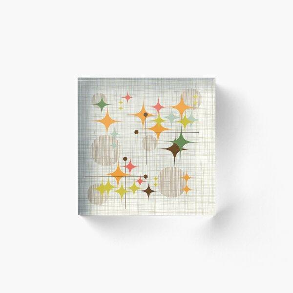 Eames Era Starbursts and Globes 3 (bkgrnd) Acrylic Block