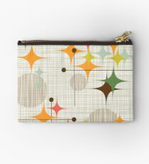 Eames Era Starbursts and Globes 3 (bkgrnd) Zipper Pouch