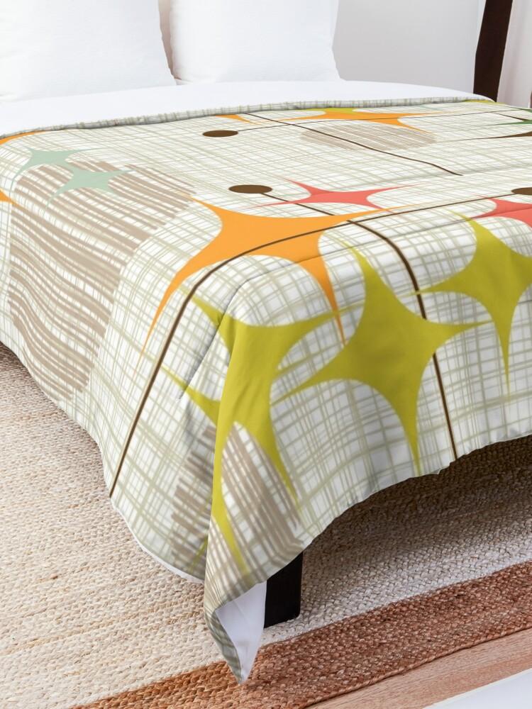 Alternate view of Eames Era Starbursts and Globes 3 (bkgrnd) Comforter