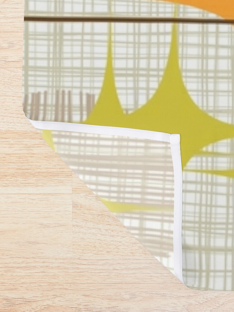 Alternate view of Eames Era Starbursts and Globes 3 (bkgrnd) Shower Curtain