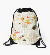 Eames Era Starbursts and Globes 3 (bkgrnd) Drawstring Bag