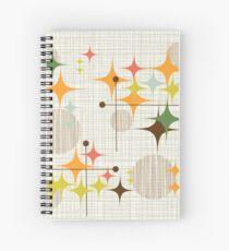 Eames Era Starbursts and Globes 3 (bkgrnd) Spiral Notebook
