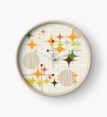 Eames-Ära Starbursts und Globen 3 (bkgrnd) Uhr