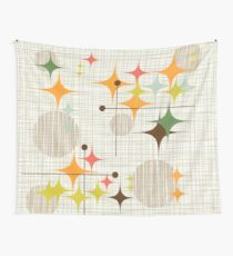 Eames Era Starbursts and Globes 3 (bkgrnd) Wall Tapestry