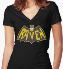 Nevermore Women's Fitted V-Neck T-Shirt