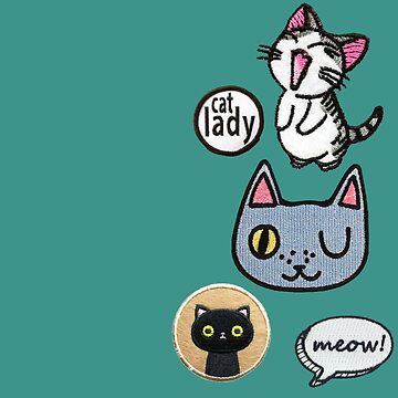 Crazy Cat Lover Patch Set  by jacqs