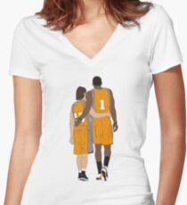 Steve Nash And Amar'e Stoudemire  Women's Fitted V-Neck T-Shirt