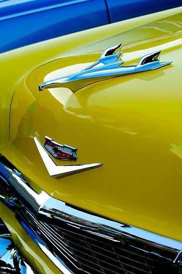 1956 Chevrolet Bel Air Hood Ornament Emblem 0241c Posters By Jill