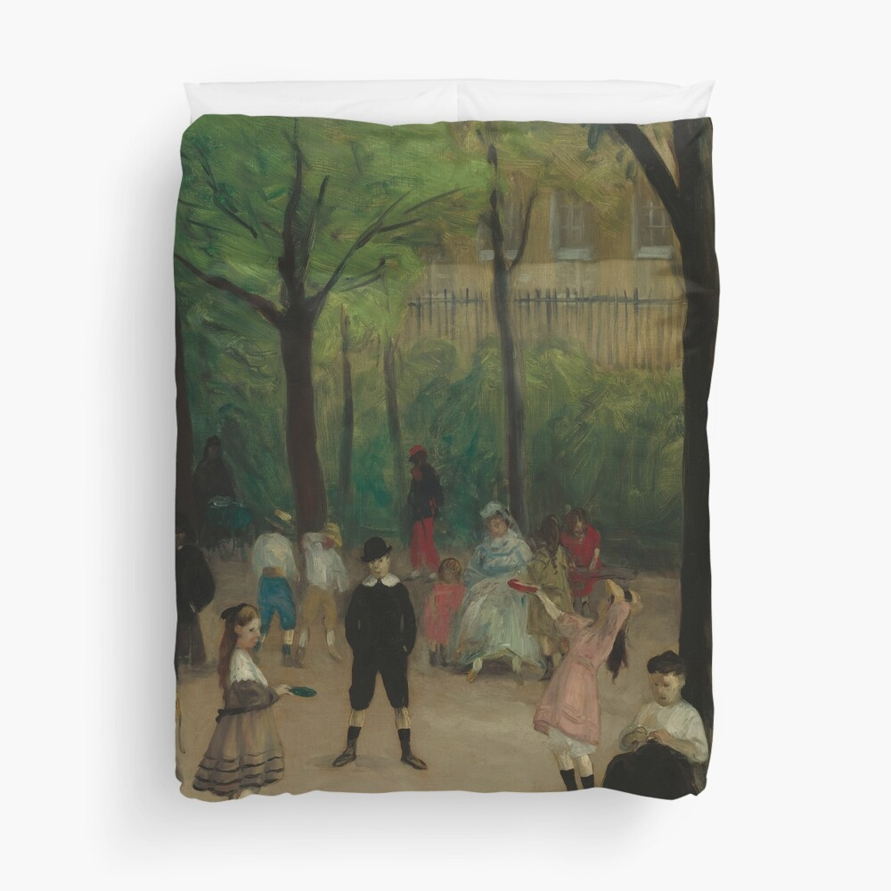 Luxembourg Gardens Oil Painting by William James Glackens Duvet Cover