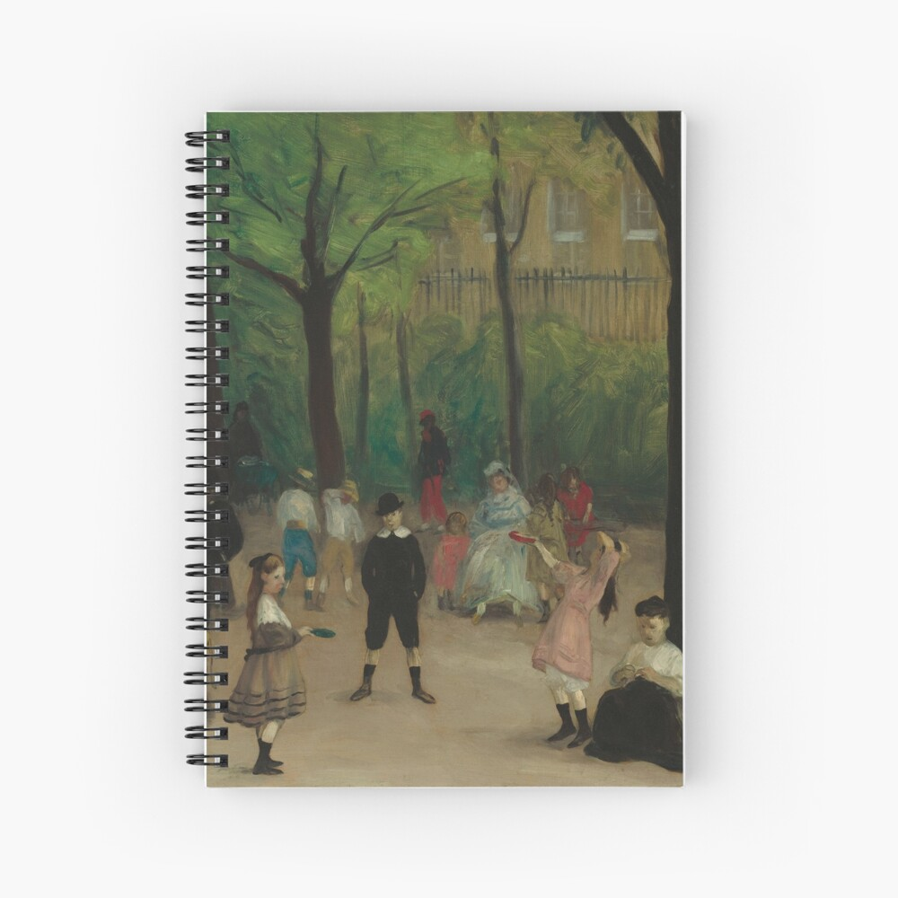 Luxembourg Gardens Oil Painting by William James Glackens Spiral Notebook
