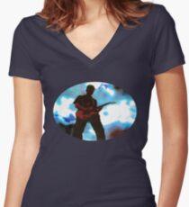 Guitar Hero Women's Fitted V-Neck T-Shirt