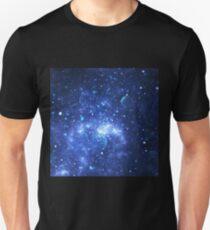 Sparkling blue universe Unisex T-Shirt