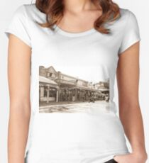 0314 Maldon Streetscape Women's Fitted Scoop T-Shirt