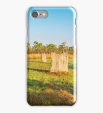 Magnetic termite Mounds in Litchfield National Park iPhone Case/Skin