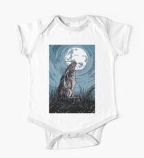Moon Gazer Hare, Artwork One Piece - Short Sleeve