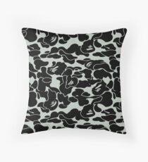 camo grey Throw Pillow