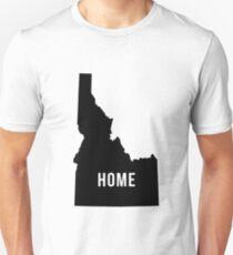 Home, Idaho Silhouette Unisex T-Shirt