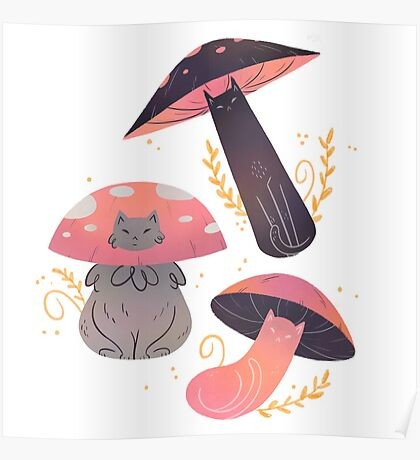 Meowshrooms Poster
