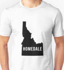 Homedale, Idaho Silhouette Unisex T-Shirt