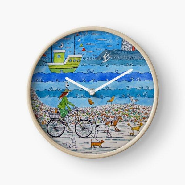 No dogs on the beach! Clock