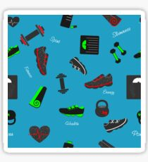 Workout. Sport and fitness elements Sticker