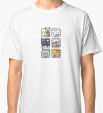 Cute Cat Icon Pattern Classic T-Shirt