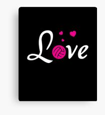 Love Volleyball Sports Women Players Canvas Print