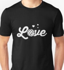 Love Volleyball Sports Women Players Unisex T-Shirt