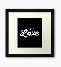 Love Volleyball Sports Women Players Framed Print