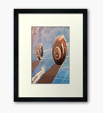 Shot of billiard balls illustration on the wall Framed Print