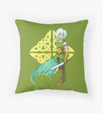 Fancy Sword Gal Throw Pillow