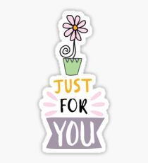 Cute design,flower and lettering Sticker