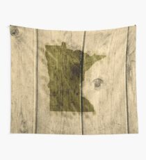 Minnesota On The Boards Wall Tapestry