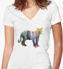 Cougar  Women's Fitted V-Neck T-Shirt