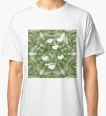 Fading hearts on forest green Classic T-Shirt