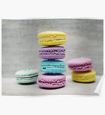Macaroons Rainbow (Collection) Poster