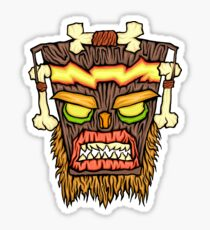 Warped Mask Sticker
