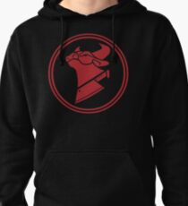 Cow Chop Classic Red Pullover Hoodie