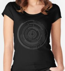 maze design Women's Fitted Scoop T-Shirt