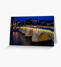 Pont Neuf Bridge - Paris, France Greeting Card