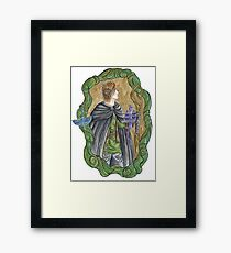 Forest Prince and Dragons Framed Print