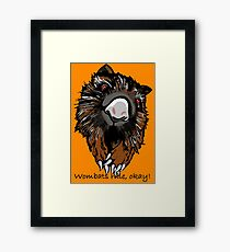 Red eyed wombat for Keith  Framed Print