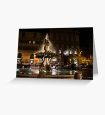 Rome's Fabulous Fountains - Fontana del Tritone Greeting Card