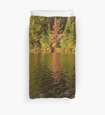 Colorful Ripples - Forest Lake in Autumn Duvet Cover