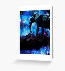 ELEPHANT TRIUMPH AMONG THE STARS Greeting Card