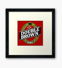 double brown Framed Print