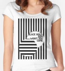 Black hole sun Women's Fitted Scoop T-Shirt
