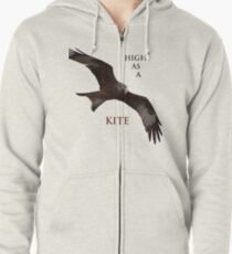 High as a Kite Zipped Hoodie