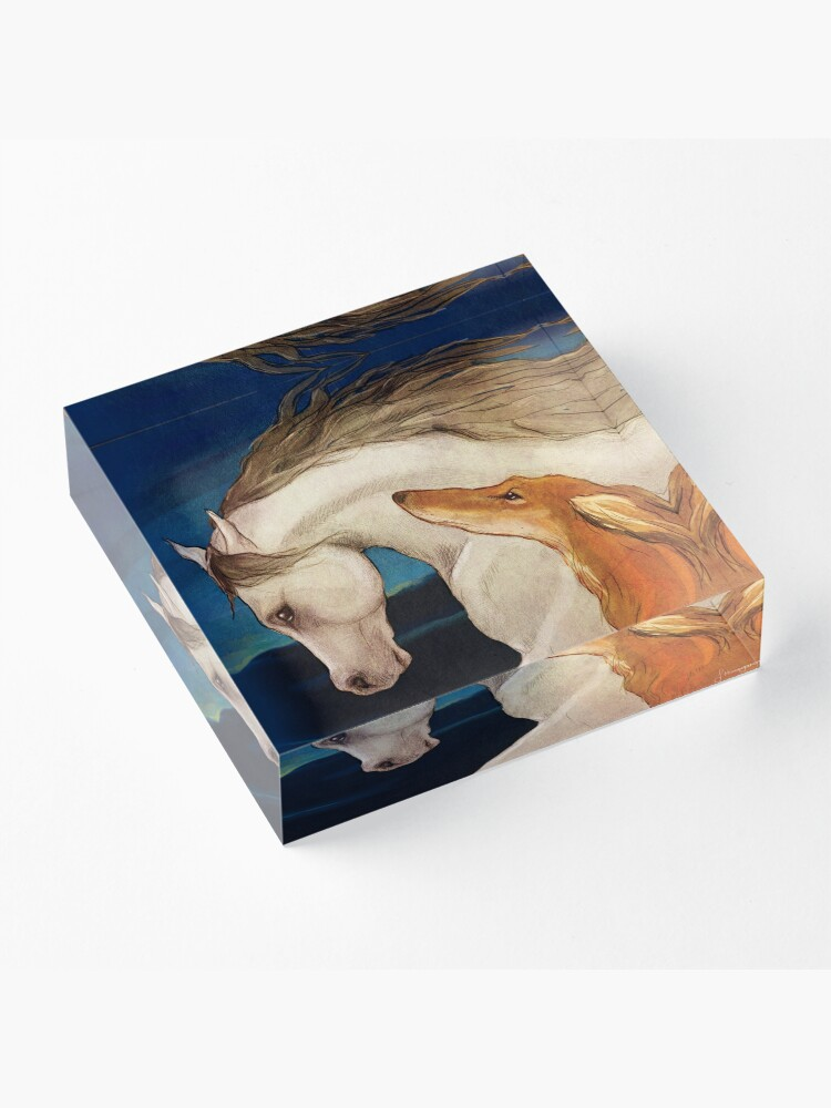 Alternate view of Kindred Spirits Acrylic Block