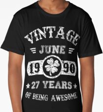 Birthday June 1990 27 Years Of Being Awesome Long T-Shirt